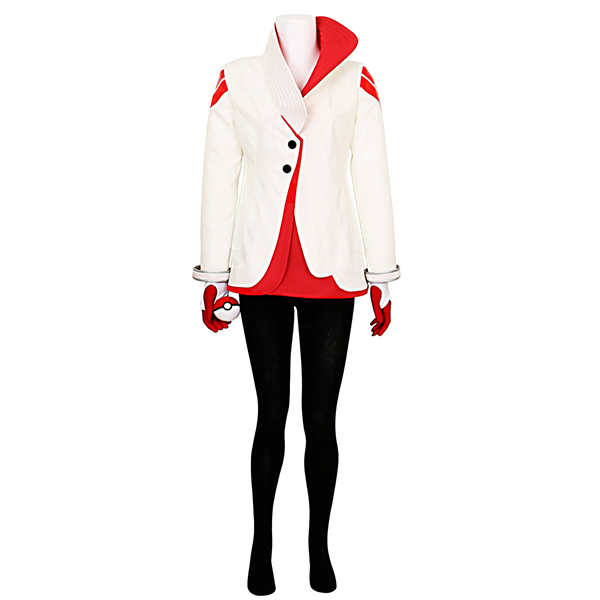 Costumi Pokemon Go Candela Uniforme Team Valor Team Leader Cosplay