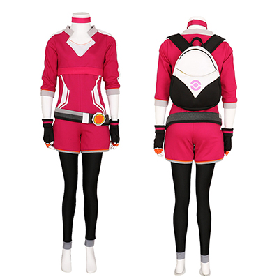 Pokemon Go Trainer Luvtröja Rose Team Valor Instinct Mystic Cosplay Kostym