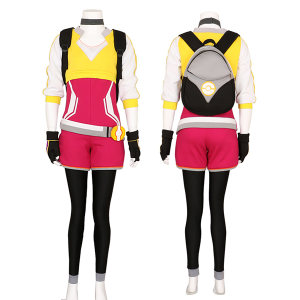 Pokemon Go Trainer Hoodie Rose Team Valor Instinct Mystic Cosplay Kostume Halloween