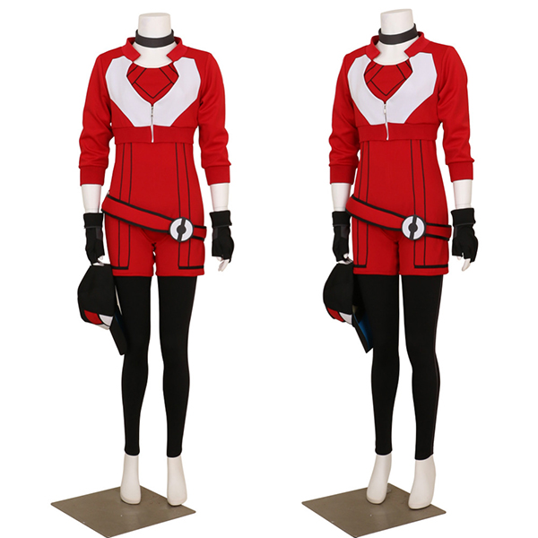 Costumi New Donna Felpa con Cappuccio for Pokemon Go Rosso Team Valor Instinct Cosplay