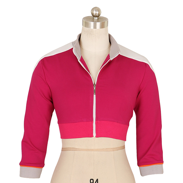 Costumi Donna Pokemon Go Trainer Cropped Felpa con Cappuccio Rose Team Valor Instinct Cosplay