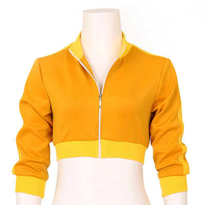 Women's Pokemon Go Trainer Cropped Yellow Hoodie Jacket Cosplay Costume