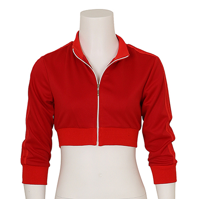 Women's Pokemon Go Trainer Red Hoodie Zipper Cosplay Costume