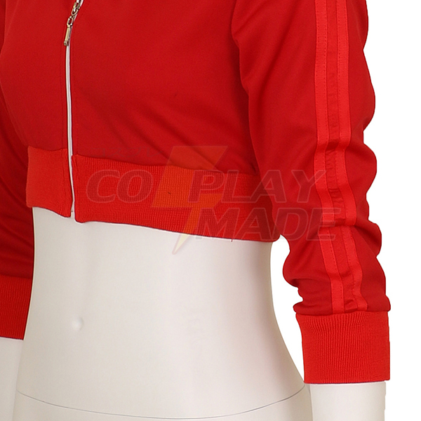Women\'s Pokemon Go Trainer Red Hoodie Zipper Cosplay Costume