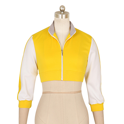 Women's Pokemon Go Trainer Yellow Hoodie For Team Valor Instinct Cosplay Costume