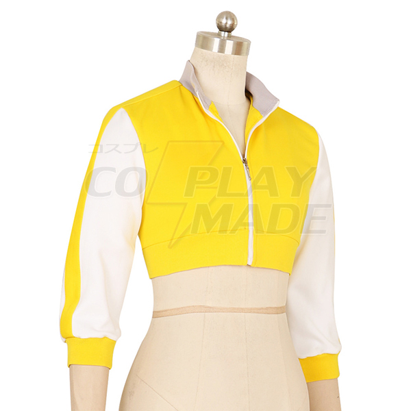 Women\'s Pokemon Go Trainer Yellow Hoodie For Team Valor Instinct Cosplay Costume