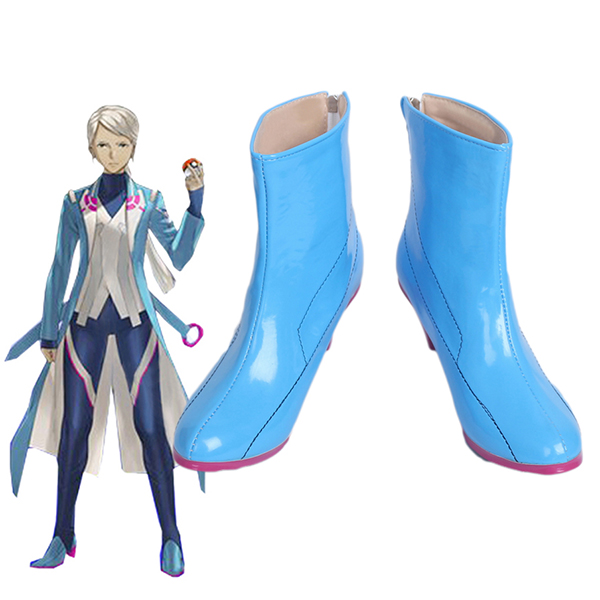 Pokemon Go Blanche Team Mystic Team Leader Cosplay Csizma Cipő Halloween