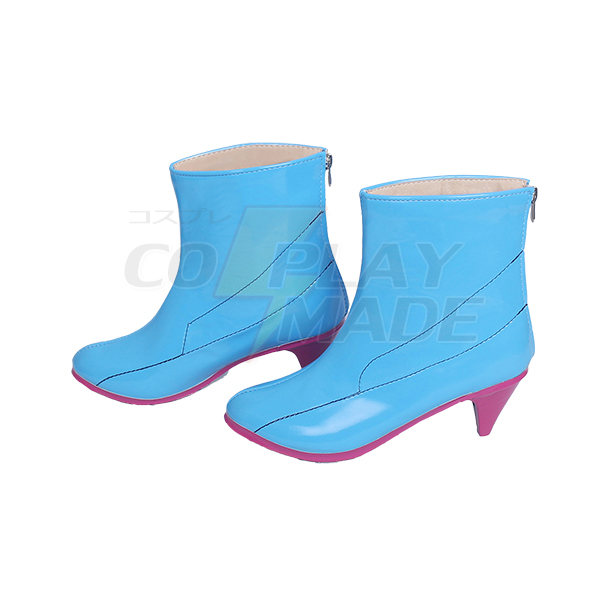 Pokemon Go Blanche Team Mystic Team Leader Cosplay Boots Shoes Custom Made