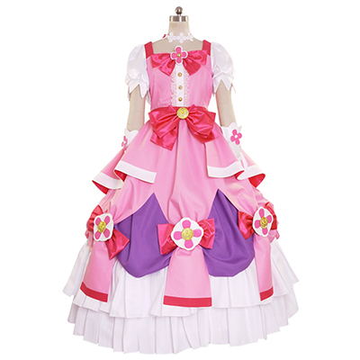 Costume Halloween Go! Princess PreCure Cure Flora Party Robes Déguisement Cosplay Tenues