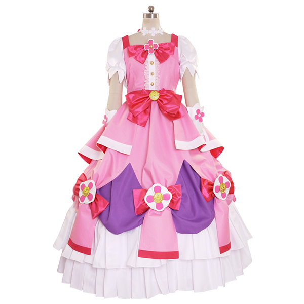 Halloween Go! Princess PreCure Cure Flora Party Dress Costume Cosplay Outfit