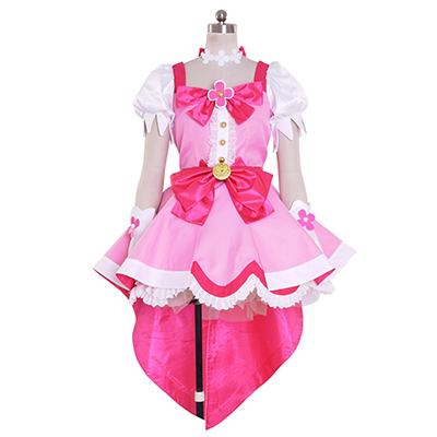 Halloween Kvinner Go! Princess PreCure Cure Flora Party Kjole Cosplay Kostyme