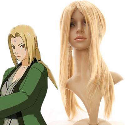 Naruto Senju Tsunade Cosplay Wig Golden 70cm