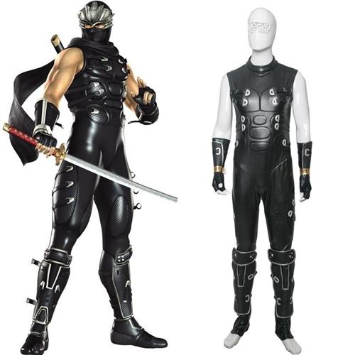 Ninja Gaiden Ryu Hayabusa Cosplay Disfraz Læder Conjunto Completo Carnaval
