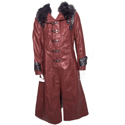 Kamen Rider Heart Cosplay Costume Red Coat PU Leather