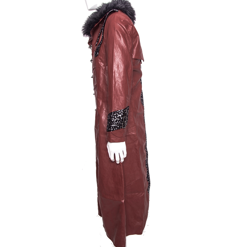 Kamen Rider Heart Cosplay Costume Red Coat PU Leather
