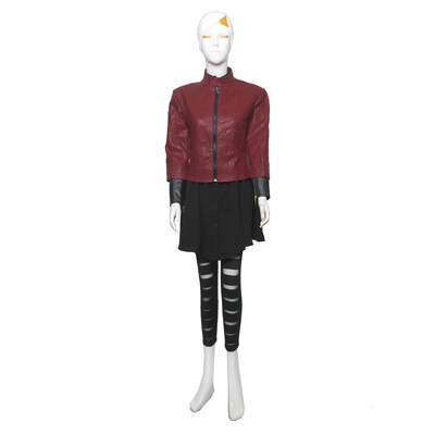 Marvel's The Avengers Scarlet Witch Cosplay Costume Leather