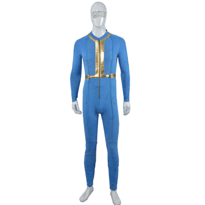 Fallout 3 Moira Brown Jumpsuits Cosplay Costume Blue