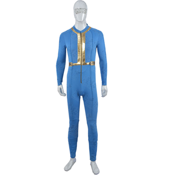Fallout 3 Moira Brown Jumpsuits Cosplay Kostume Blue Fastelavn