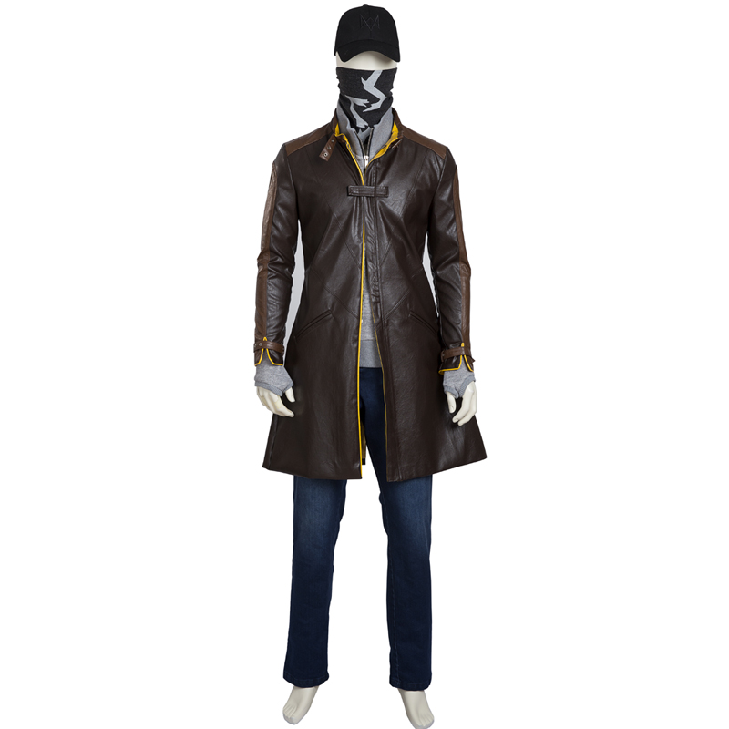 Watch Dogs Aiden Pearce Cosplay Costume Full Set