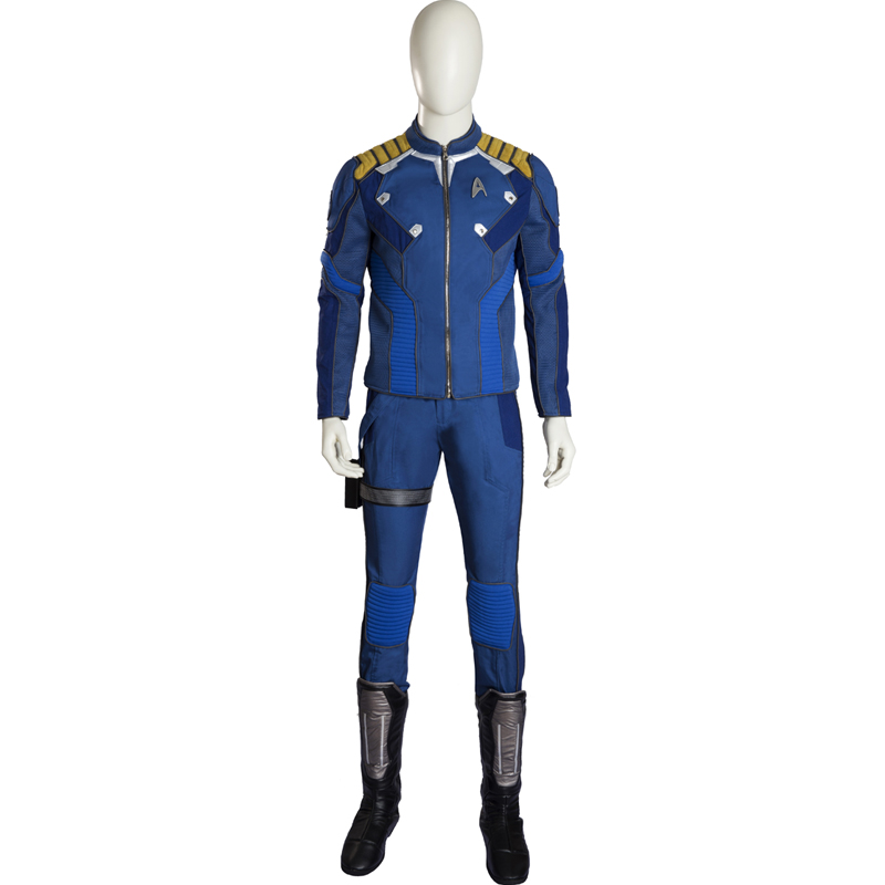 Star Trek Beyond Captain James T Tiberius Kirk Cosplay Traje Pacote Inteiro Carnaval