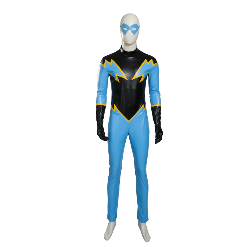 Justice League Jefferson Pierce Black Lightning Cosplay Kostume Fastelavn