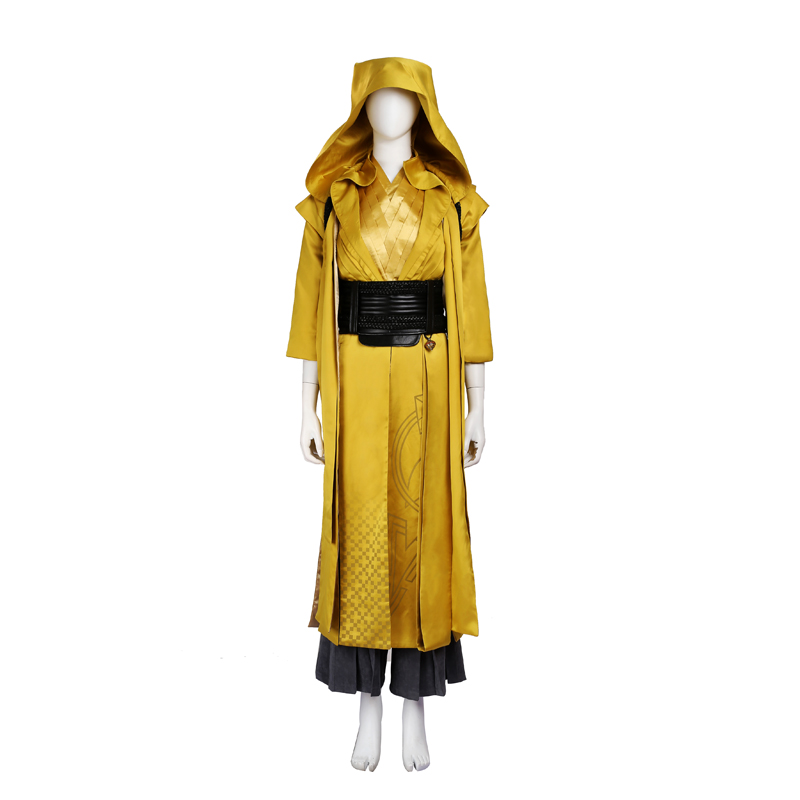 Doctor Strange Ancient One Cosplay Kostume Yellow Fastelavn