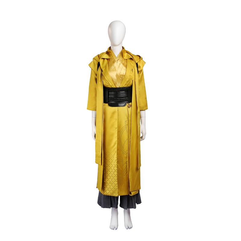 Doctor Strange Ancient One Cosplay Kostume Yellow Fastelavn