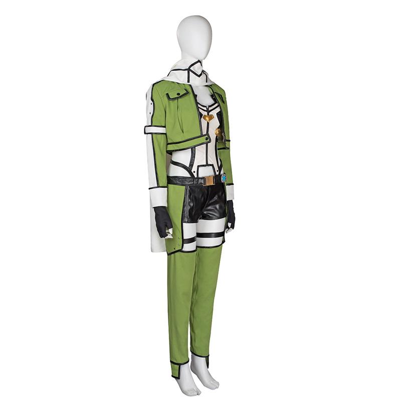 Sværd Art Online SAO Asada Shino Cosplay Kostume Fastelavn