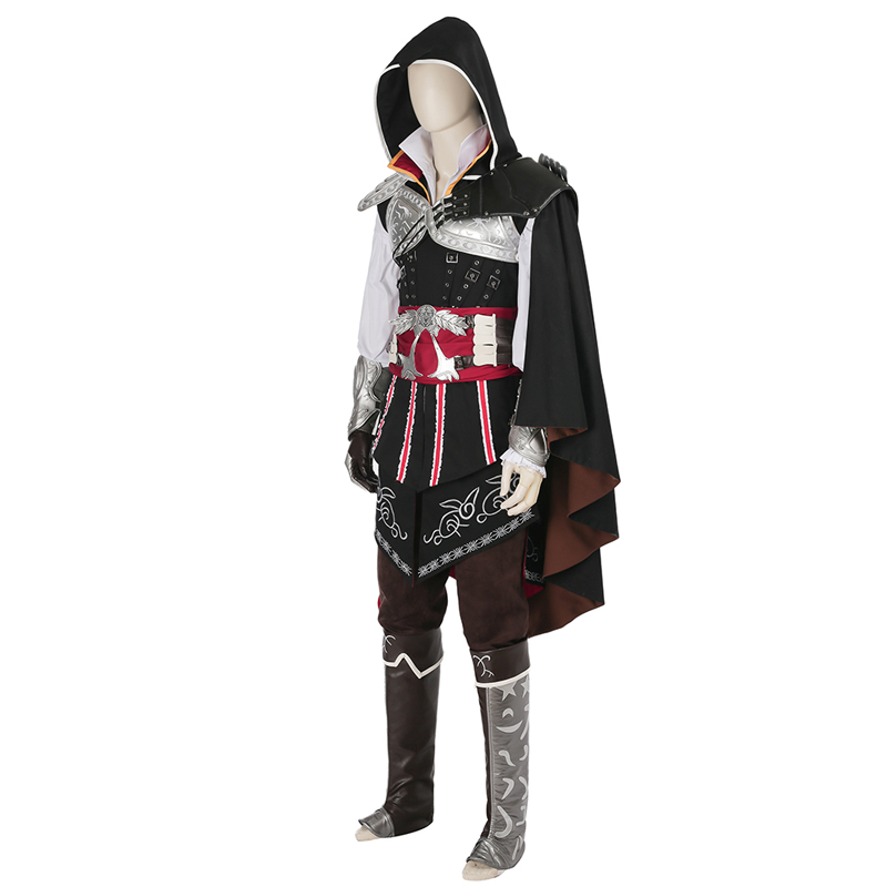 Assassins Creed 2 Ezio Auditore Da Firenze Cosplay Costume Black