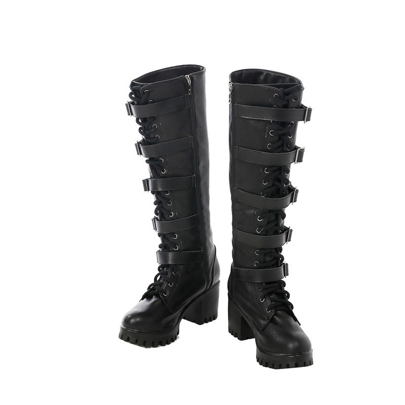 Underworld: Blood Wars Vampire Warrior Selene Cosplay Zapatos Læder Carnaval
