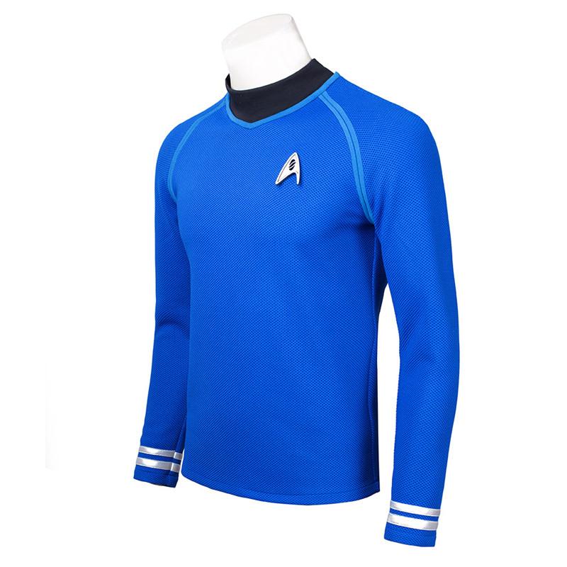 Star Trek Beyond Spock Blue Shirt Cosplay Kostume Fastelavn