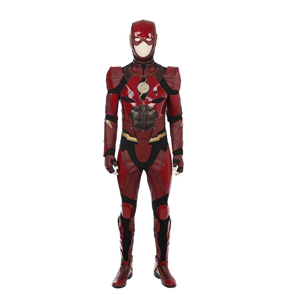 Justice League The Flash Barry Allen Cosplay Kostym Karneval