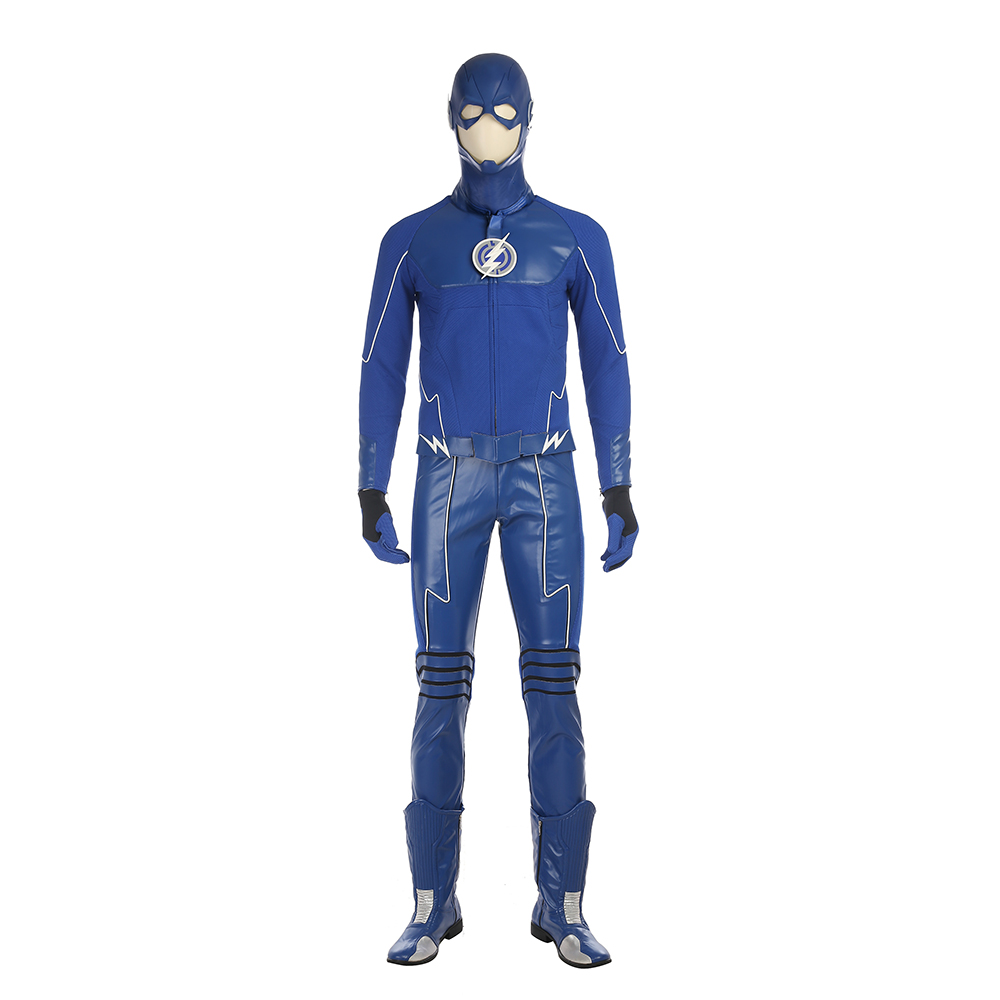 Justice League The Flash Barry Allen Blue Cosplay Kostume Fastelavn
