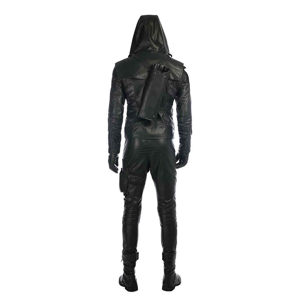 Arrow Season 5 Prometheus Cosplay asut Black Nahka Naamiaisasut