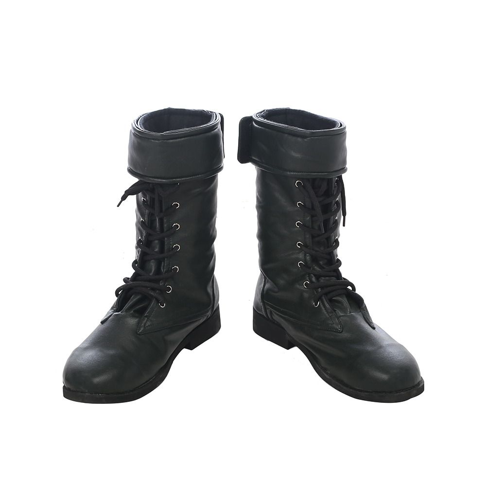Arrow Season 5 Prometheus Cosplay Botas Preto Couro Carnaval
