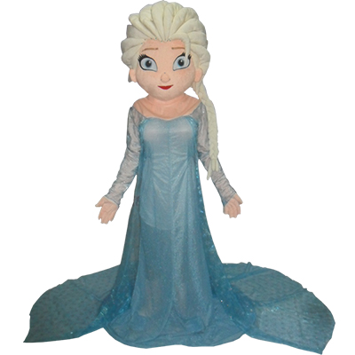 Frozen Princess Elsa Mascot Cartoon Characters Costume