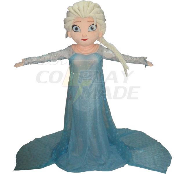 Frozen Princess Elsa Mascot Cartoon Characters Costume