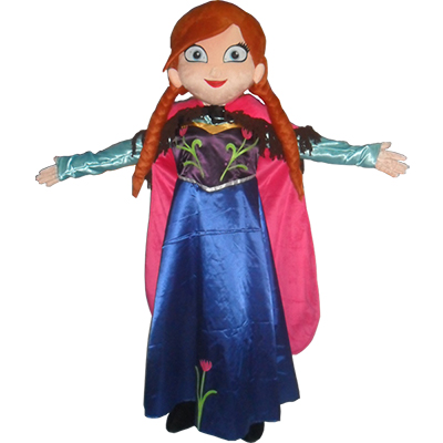 Beautiful Frozen Princess Anna Mascot Costume