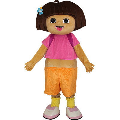 Cartoon Dora The Explorer Mascot Costume for Adults