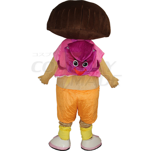 Cartoon Dora The Explorer Mascot Costume for Adults