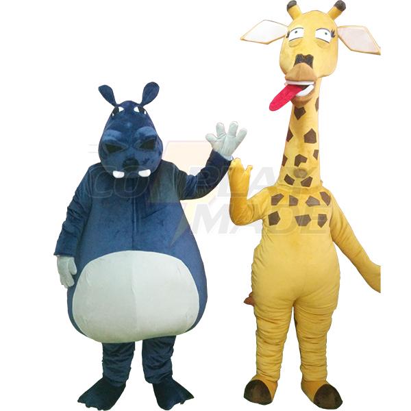 Giraffe Mascot Cartoon Characters Costume