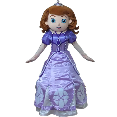 Princess Sofia Mascot Cartoon Characters Costume