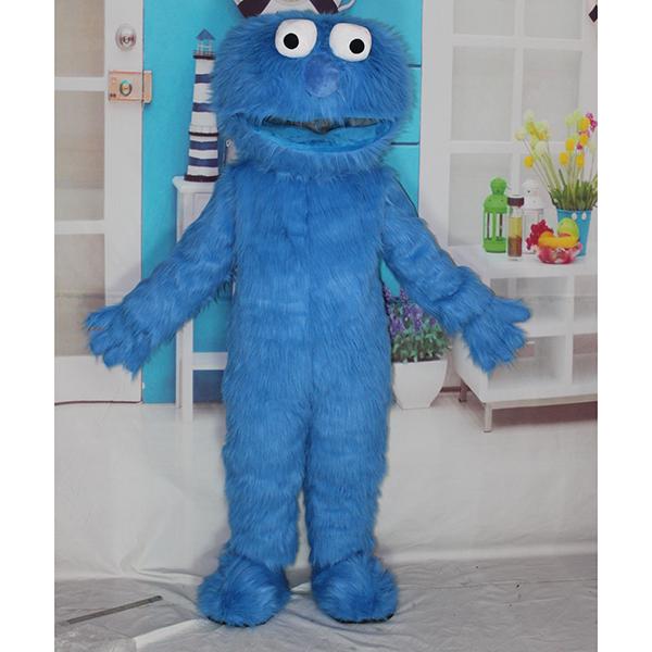 Blue Sesame Street Elmo Cookie Mascot Cartoon Characters Costume
