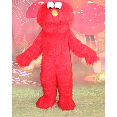 Red Sesame Street Elmo Cookie Mascot Cartoon Characters Costume