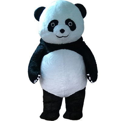 White Kongfu Panda Mascot Costume Cartoon