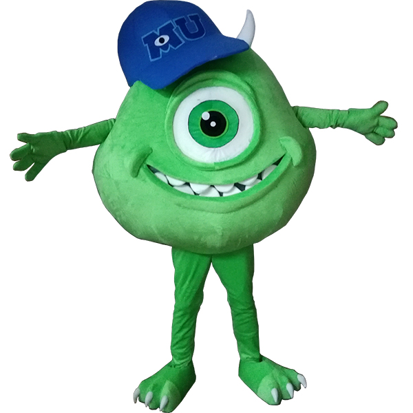 Green Monsters Inc Mike Mascot Costume Cartoon