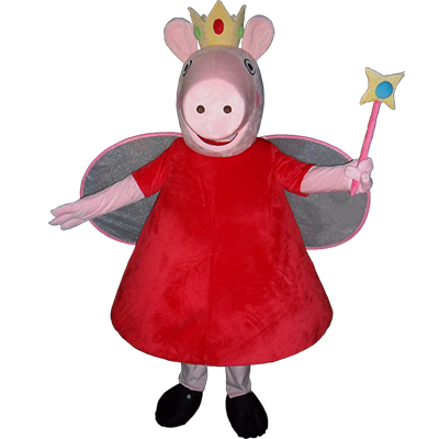 Pink Peppa Pig Mascot Costume Cartoon