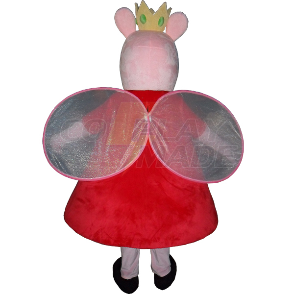 Pink Peppa Pig Mascot Costume Cartoon