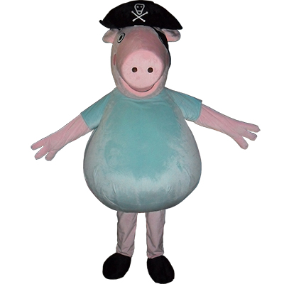 Blue Peppa Pig Mascot Costume Cartoon