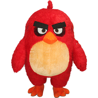 Red Angry Bird Mascot Costume Cartoon
